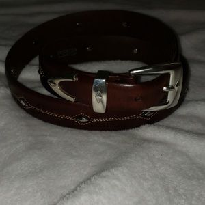 Brighton brown diamond belt